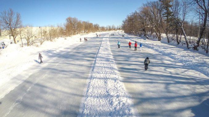 Patinage en hiver au Canada